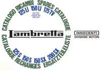 Lambretta books, spare parts series 3