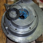 Here the mag flange is getting ready, the bearing is filled with high melting point grease