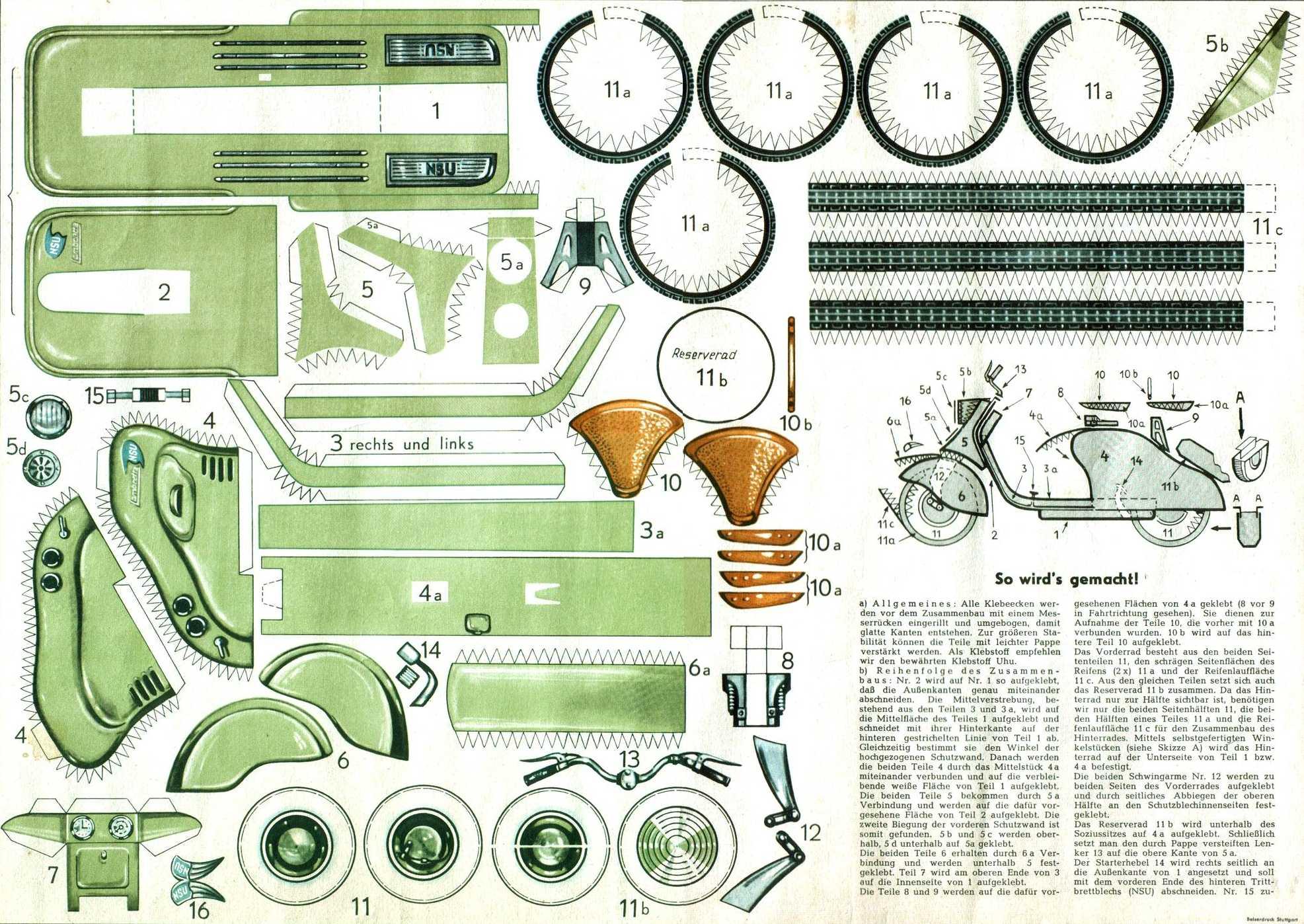 Paperlambretta-example, Lambretta books, Paper model Lambretta LD