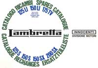 Lambretta books, spare parts series 3